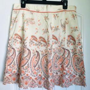 Cotton, Cream-Colored Skirt